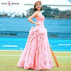 0e6349740 RSM6638 ruffled evening dress peach color vestidos de fiesta elegant party  dresses imported from china Import