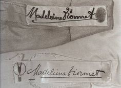 Madeleine Vionnet stamped her thumbprint on labels to prevent knock-offs.