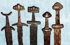 Viking sword hilts.