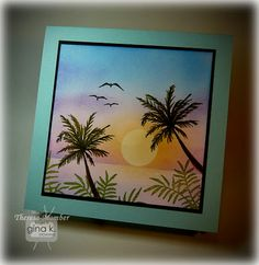 Crafting The Web: Colorful Tropics Style Tropical, Nautical Cards, Beach Cards, Watercolor Cards, Copics, Masculine Cards, Scrapbook Cards, Homemade Cards, Stampin Up Cards