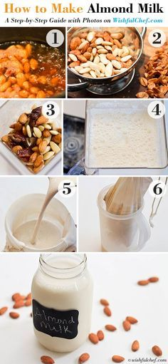 How to Make Almond Milk   A Step by Step Guide with Photos // wishfulchef.com