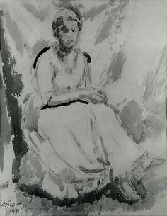 1931 Duncan Grant portrait of Vanessa Bell. Clive Bell, Duncan Grant, Vanessa Bell, Bloomsbury Group, Artist Life, East Sussex, Watercolor And Ink, Female Art, Inverness