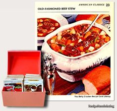 """Old-fashioned Beef Stew / Gammeldags Biffgryte - A recipe from """"The Betty Crocker Recipe Card Library"""" published in 1971 http://recipereminiscing.wordpress.com/"""