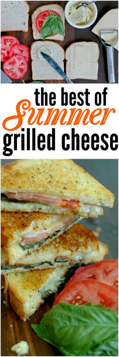 Summer Grilled Cheese - Fresh basil, tomato, and dill take on that classic, comforting grilled cheese for a summer makeover!