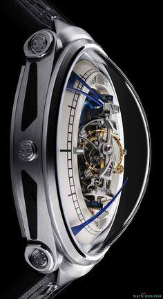 深空九号太空站三轴陀飞轮腕表Vianney Halter Deep Space (9) Tourbillon Watch - 机械、石英表 - 钟表资讯网 - watch design