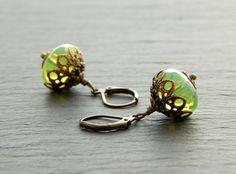 Ohrringe - Caribbean Green von Perlenfontäne auf DaWanda.com