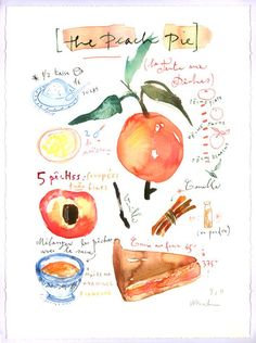 Adorable!  Artist Lucile Prache will create a watercolor illustrating your favorite recipe.