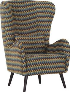 In+diesem+Relaxsessel+von+AMBIA+HOME+lassen+Sie+es+sich+gut+gehen.+Dank+der+Polsterung+mit+Polyetherschaumkern+und+Gurtfederung+sitzen+Sie+sehr+bequem.+Besonders+das+Design+begeistert:+Der+Überzug+mit+Zick-Zack-Muster+in+Türkis,+Braun+und+Gelb+verleiht+dem+Sessel+eine+aufregende+Vintage-Optik.+Das+passende+Zierkissen+ist+bereits+inklusive+und+macht+auf+Ihrem+Sessel+mit+echt+bezogenem+Rücken+eine+schöne+Figur.+Dieser+Relaxsessel+ist+in+ein+echter+Hingucker!