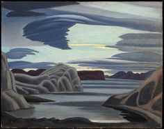 """Lake Harbour, South Shore, Baffin Island, Morning."" Credit NGC/via Family of Lawren S. Harris"