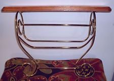 Home Interior Gold Plated Metal with Wood Shelf & Towel Rack