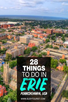 Not sure what to do in Erie, Pennsylvania? This travel guide will show you the top attractions, best activities, places to visit & fun things to do in Erie, PA! Start planning your itinerary and bucket list now! #eriepa #erie #pennsylvania #thingstodoinerie #usatravel #usatrip #usaroadtrip #travelusa #ustravel #ustraveldestinations #americatravel #travelamerica #vacationusa #usatrip Travel Advice, Travel Guides, Erie Pennsylvania, Us Travel Destinations, Road Trip Usa, Travel Usa, Lakes, Fun Things, City Photo