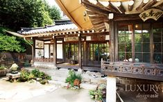 Korean traditional Han-ok Architecture Old, Beautiful Architecture, Architecture Details, Korean Traditional, Traditional House, Home Design Diy, House Design, Home Temple, Asian Interior