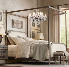 Italian Vintage Trellis Print Bedding Collection | Bed Linens | Restoration Hardware