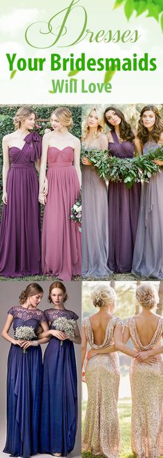 These bridesmaid dresses will be loved by your bridesmaids; We have different…