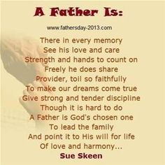 fathers day poem that rhymes
