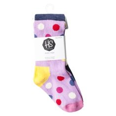 Happy Socks Infant Toddler Girls' 2 Pack Knee High Socks - Multicolor