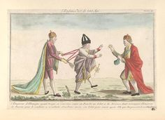 25.09-26.12.1805.L'enfance est de tout age Premiere age. French political cartoon;Satire on the Third Coalition; Francis II, Holy Roman Emperor. Alexander I of Russia.George III of the United Kingdom.Bodleian Libraries,