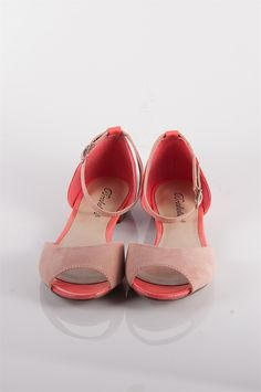 Colorblock Open Toe Flats with Ankle Strap - Blush from Sandals at Lucky 21 Lucky 21