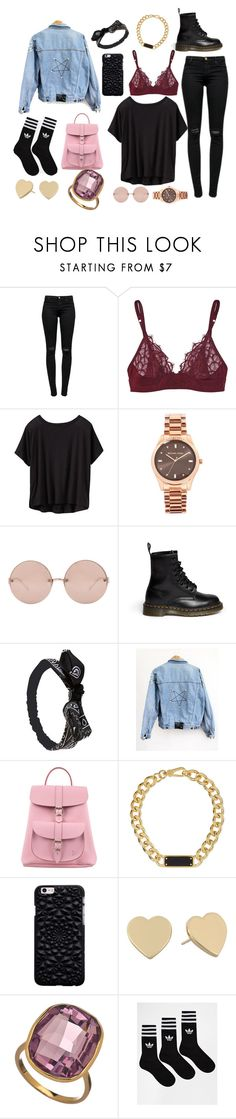 """""""Concert"""" by mikeysloser ❤ liked on Polyvore featuring J Brand, Monette, Athleta, Michael Kors, Linda Farrow, Dr. Martens, Wet Seal, Grafea, Marc by Marc Jacobs and Kate Spade"""
