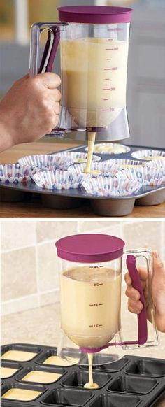 Cake Batter Dispenser with Measuring Label ❤︎ {Great for Pancakes & Muffins too}