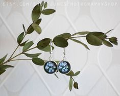 Forget me not - Earrings - Blue flowers Star Photography, Nature Photography, Holidays In Norway, Forget Me Not, Yellow Flowers, Wind Chimes, Jewelry Making, Brooch, Drop Earrings