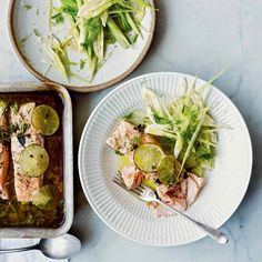 Salmon Confit with Lime, Juniper, and Fennel Romantic Dinner Recipes, Easter Dinner Recipes, Dinner Ideas, Salmon Recipes, Seafood Recipes, Just Cooking, Cooking Light, Cooking Salmon, Dinner Rolls