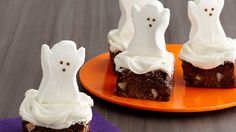 Don't be afraid to bake and decorate rich chocolate brownies as a special Halloween treat!