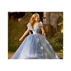 Cinderella's Dresses for Lily James: Details from the Costume Designer... ❤ liked on Polyvore featuring cinderella and backgrounds