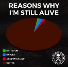 Reasons I'm still alive coffee being a big part! I don't know how I'd get by without it... #coffeetime #coffeememe