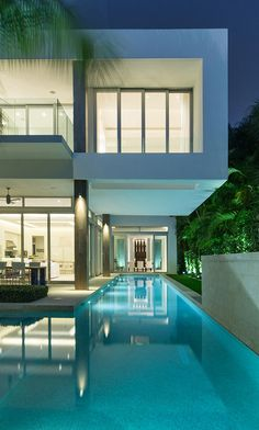 Architecture Beast; Amazing Houses: Living Modern With Style | #architecture #modern #contemporary #house #home #beautiful #amazing #facade #swimmingpool #lights #terrace