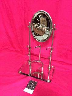 Greystone Fine Furniture - Antique Metal Shaving Stand with Oval Swivel Mirror $150