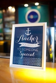 Anchor Yourself to Someone Special