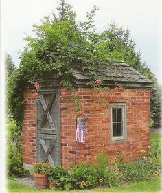 small brick.garden shed - Google Search