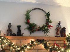Wine barrel hoop wreath