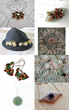 floral accessories/ Succulent by Elena Doniy on Etsy--Pinned with TreasuryPin.com