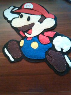 Super Mario Bross en fieltro