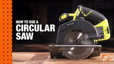 Learn how to use circular saws for straight cuts on DIY projects. This Home Depot guide will teach you how to use a circular saw for crosscuts and rip cuts. Tool Pouch, Tool Box, Ryobi Saw, Houston, Small Parts Organizer, Saw Tool, Milwaukee Tools, Diy Workshop, Circular Saw