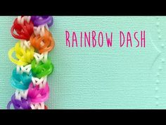 Rainbow loom bands rainbow dash bracelet tutorial (no loom no hook)