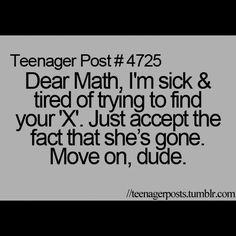 For real, everyday we do algebra