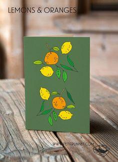 PetitPunnet: Lemons & Oranges Greeting Card