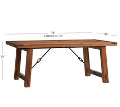 Benchwright Outdoor Rectangular Extending Dining Table | Pottery Barn