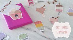 Baixar e imprimir grátis o cartão e tag Ice Cream. Venha conferir essas fofuras de papelaria.