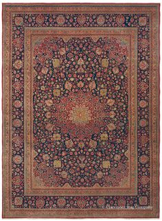 MANCHESTER KASHAN - Central Persian, 9ft 10in x 13ft 5in, Circa 1910. Renowned for a particularly soft, extraordinarily luxurious wool imported from England, early 20th century Persian Manchester Kashan carpets are prized, especially if the artistry and craftsmanship are as exceptional as in this piece. Deeply saturated, luminous jewel tones bring a majestic presence to this top-tier antique Oriental rug.