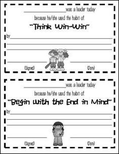 Printables 7 Habits Worksheets keep going leader in me and charts on pinterest 7 habits of happy kids certificates