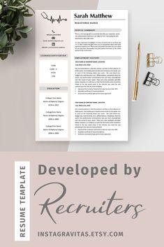 Registered nurse resume template, Medical resume template for nurse, Nursing resume