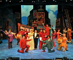 """""""Guys and Dolls"""" a Hit at Westchester Broadway Theatre Theatre Props, Theatre Nerds, Theatre Costumes, Theater, Guys And Dolls Musical, Broadway Stage, Theatre Reviews, London Theatre, Scenic Design"""