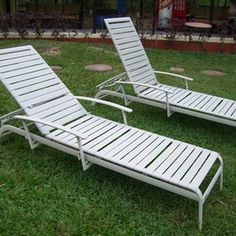 You can replace the straps on patio chairs.