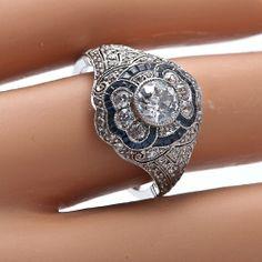 Very Unique Diamond Rings | Unique Antique Solitaire Diamond Engagement Ring Old Miner-Unique Art ...