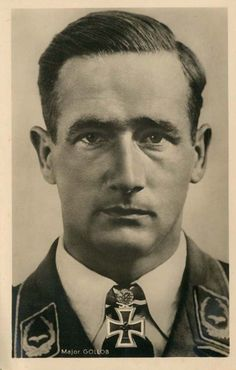 ✠ Gordon Mac Gollob was an Austrian-born German Luftwaffe World War II fighter ace credited with 150 enemy aircraft shot down in over 340 combat missions. He claimed the majority of his victories over the Eastern Front, and six over the Western Front, five of which he claimed as a Bf 110 heavy fighter pilot.http://www.luftwaffe.cz/gollob.html