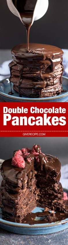 Double Chocolate Pancakes are very close to your favorite chocolate cake. Much easier and quicker though!